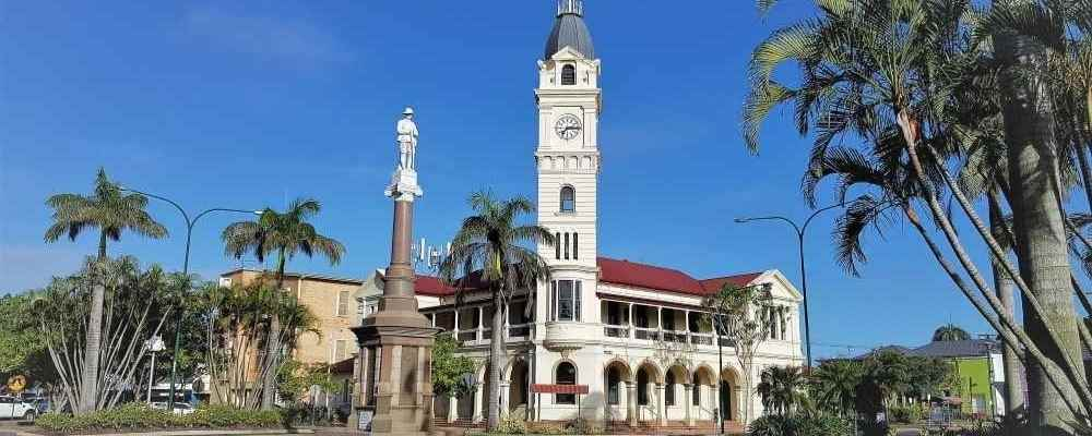The town of Bundaberg